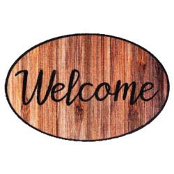 Paillasson / Tapis de propreté PRESTIGE SHAPE Welcome Wood Hamat