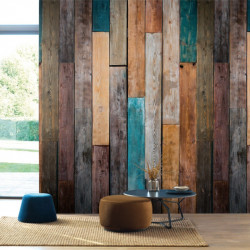 Panoramique Wood Color marron - BEAUTY FULL IMAGE  - Casadeco - BFIM85013424