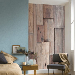 Panoramique Wood Natural beige - BEAUTY FULL IMAGE  - Casadeco - BFIM85001405