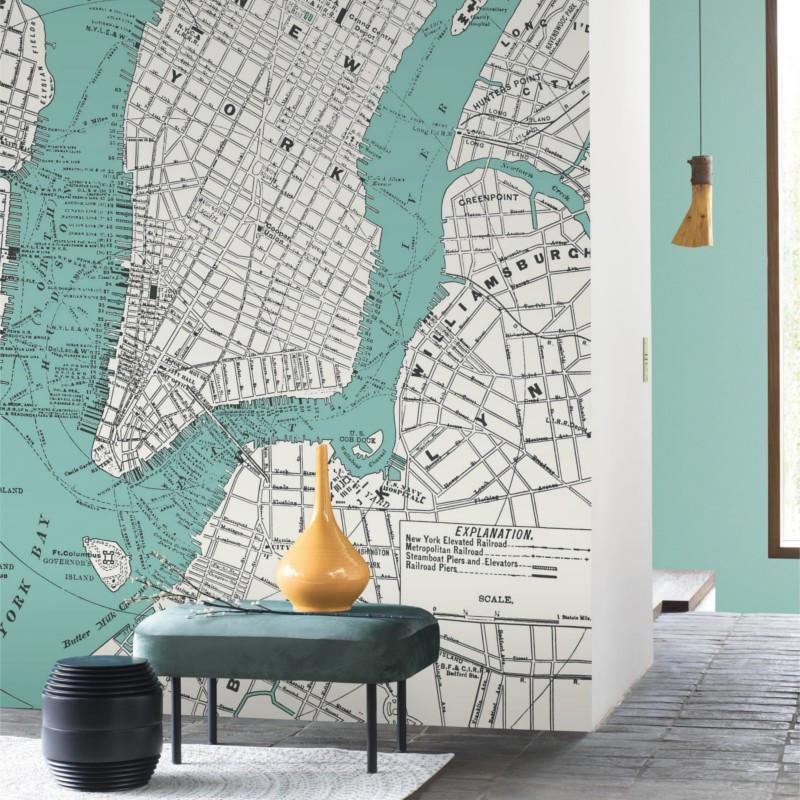 Panoramique New York City bleu - BEAUTY FULL IMAGE  - Casadeco - BFIM85056127
