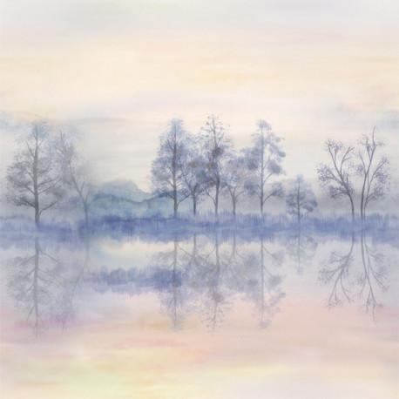 Panoramique Iris Reflet parme - BEAUTY FULL IMAGE  - Caselio - BFI69025035
