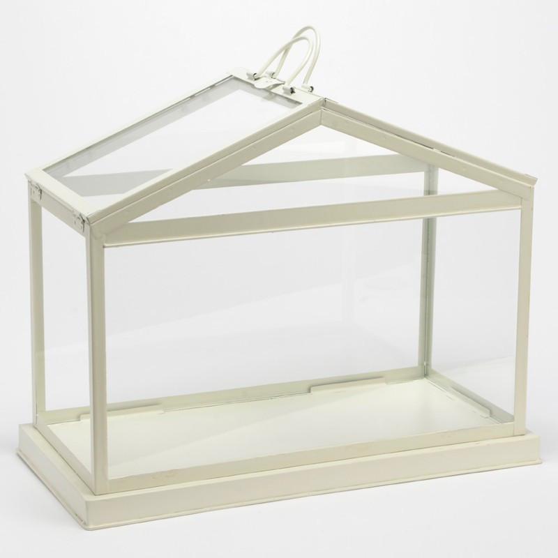 Photophore Maisonnette métal blanc - Amadeus - 135405