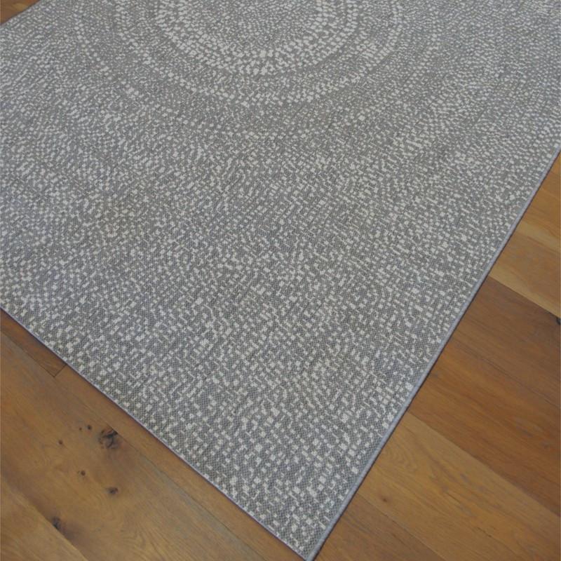 Tapis corde Cercles gris clair - Essenza BALTA 160x230