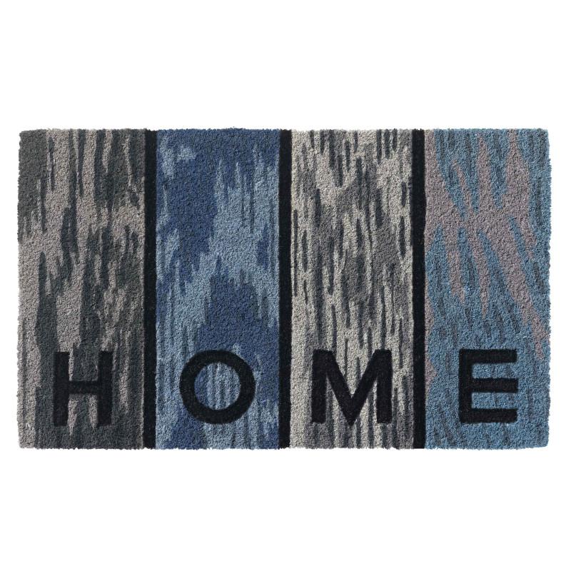 """Paillasson intérieur coco """"Woodpanel Home bleu"""" - Ruco Style HAMAT 45x75"""
