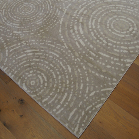 "Tapis velours ras ""Cercles beige taupe clair"" - Shade BALTA 160x230"