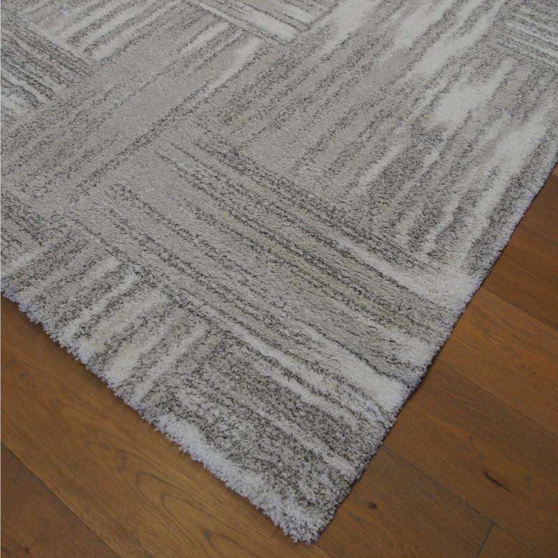 Tapis shaggy à motif moderne gris et blanc - 200x290cm - SHERPA BALTA