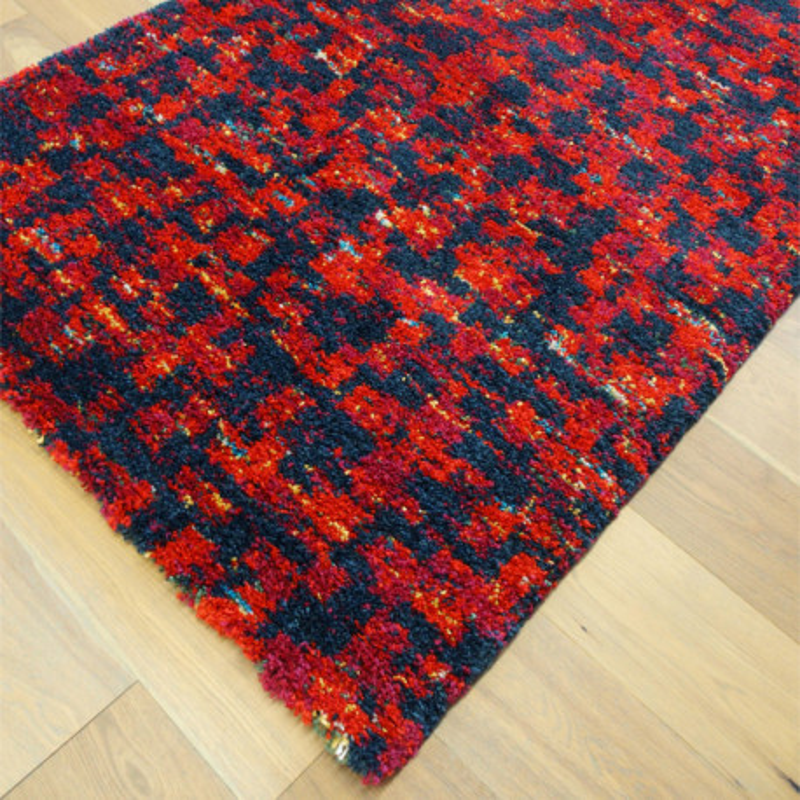 Tapis shaggy motif moderne fondu rouge - 120x170cm - SHERPA BALTA