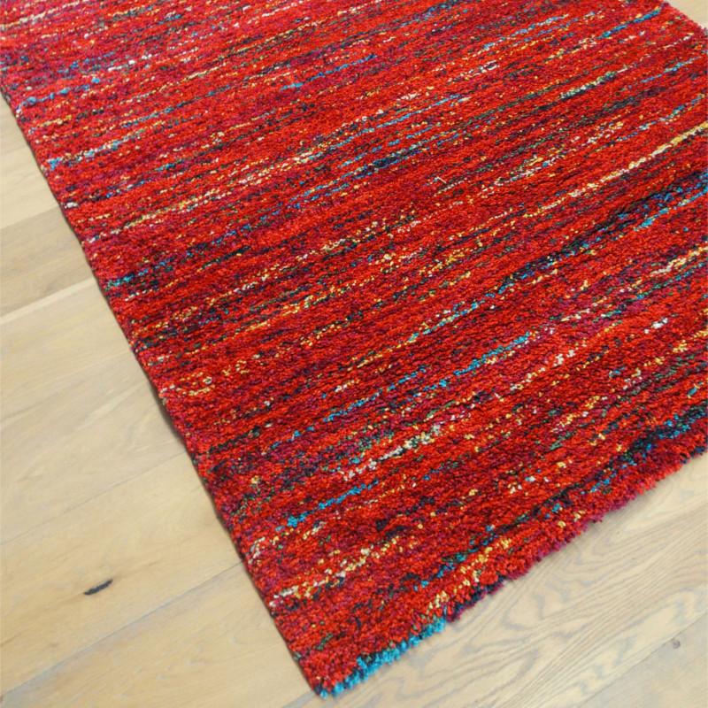 Tapis shaggy Lignes rouges moucheté - 140x200cm - SHERPA BALTA