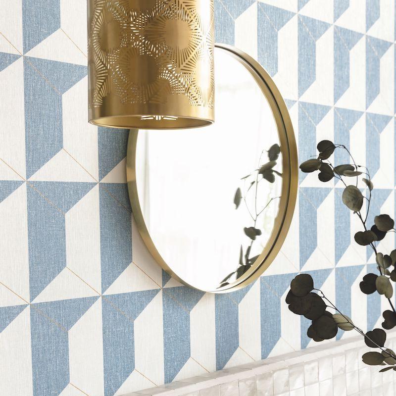 Papier peint Rythm bleu madura doré - MOOVE - Caselio - MVE101336427