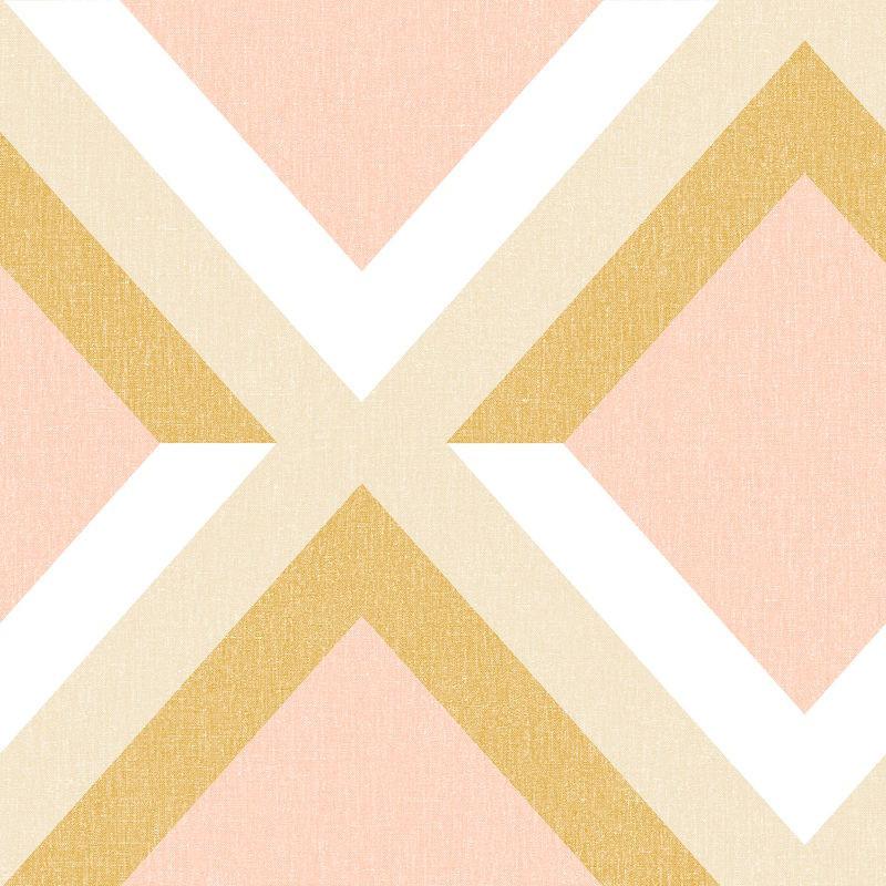 Papier peint Groove ocre rose blanc - MOOVE - Caselio - MVE101342817