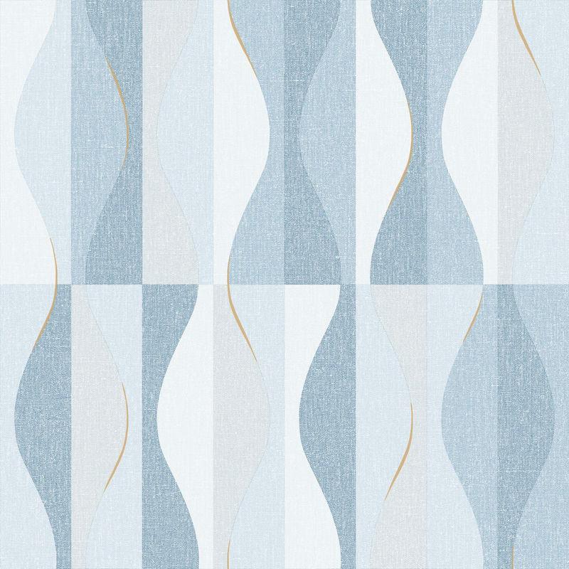 Papier peint Ondulation bleu - MOOVE - Caselio - MVE101386134