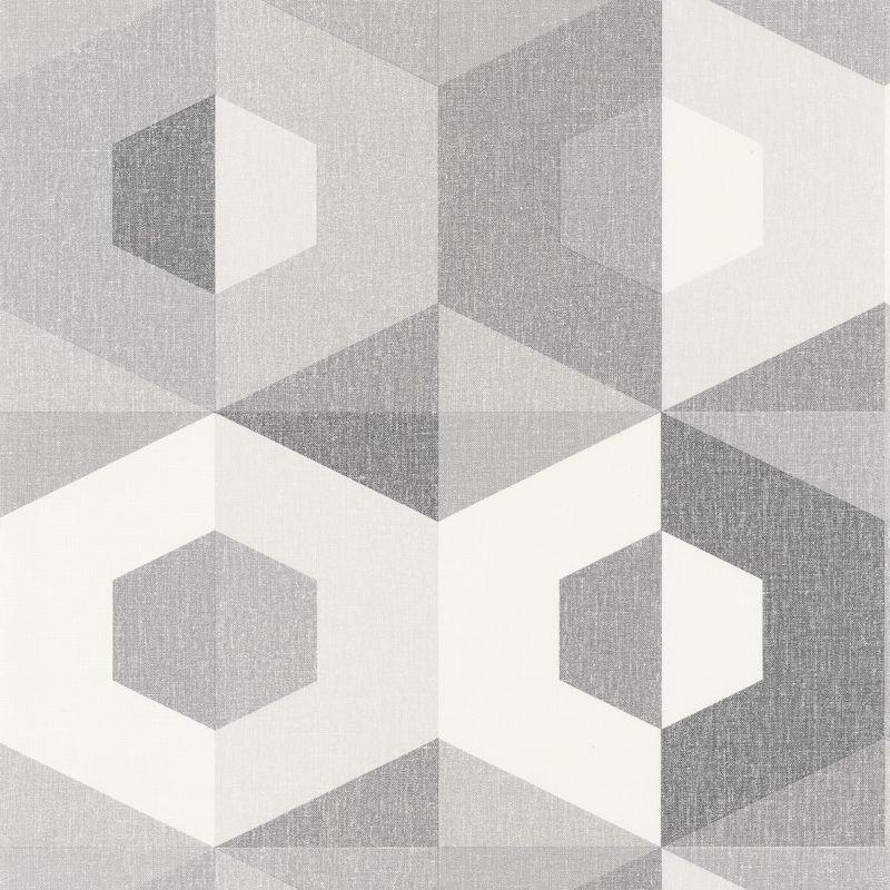 Papier peint Pop gris anthracite gris doux blanc - MOOVE - Caselio - MVE101379102