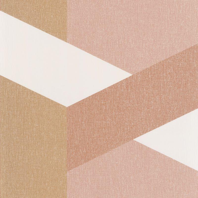 Papier peint Twist terracotta rose doré - MOOVE - Caselio - MVE101352118