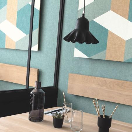 Papier peint Twist vert d'eau vert émeraude doré - MOOVE - Caselio - MVE101357637