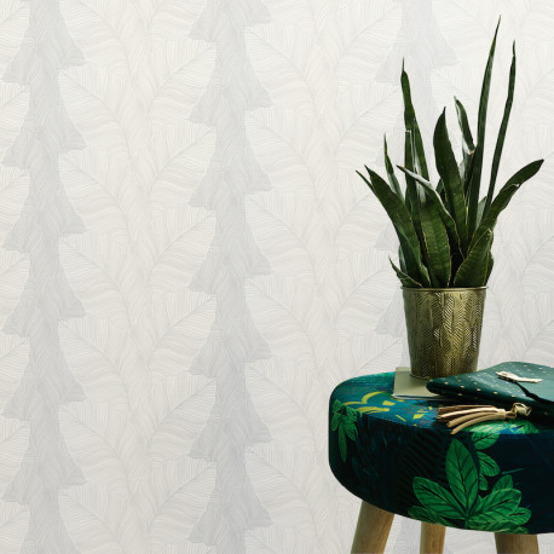 Papier peint Palmes blanc beige - BALI - Erismann - 10021-01