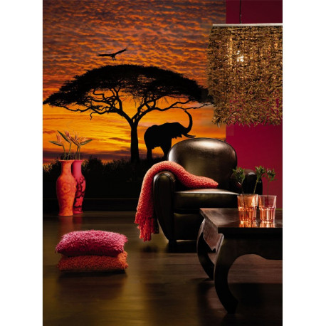 Panoramique AFRICAN SUNSET collection Landscapes - Komar