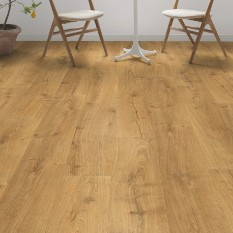 "Sol Stratifié ""Chêne Cambridge naturel monolame LPU1662"" - Largo QUICK STEP"