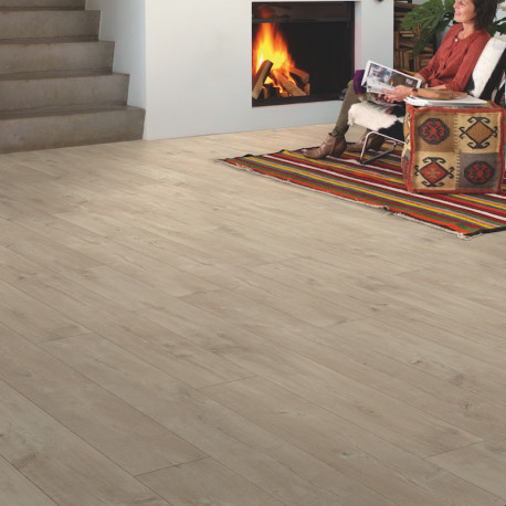 "Sol Stratifié ""Chêne Dominicano naturel monolame LPU1622"" - Largo QUICK STEP"