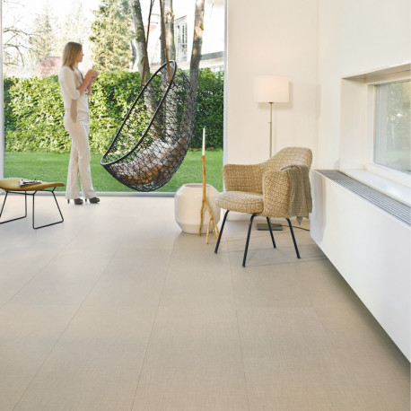 """Sol Stratifié """"Textile artisanal EXQ1557"""" - Exquisa QUICK STEP"""