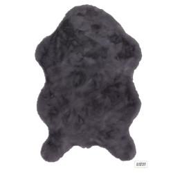 Tapis tout doux Astra Tender gris anthracite 60x90cm forme peau de bête