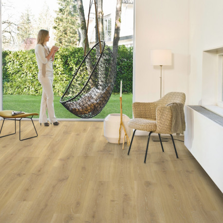 "Sol Stratifié ""Chêne tennessee nature monolame CR3180"" - Creo QUICK STEP"