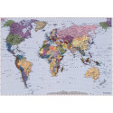 Panoramique WORLD MAP collection Landscapes - Komar