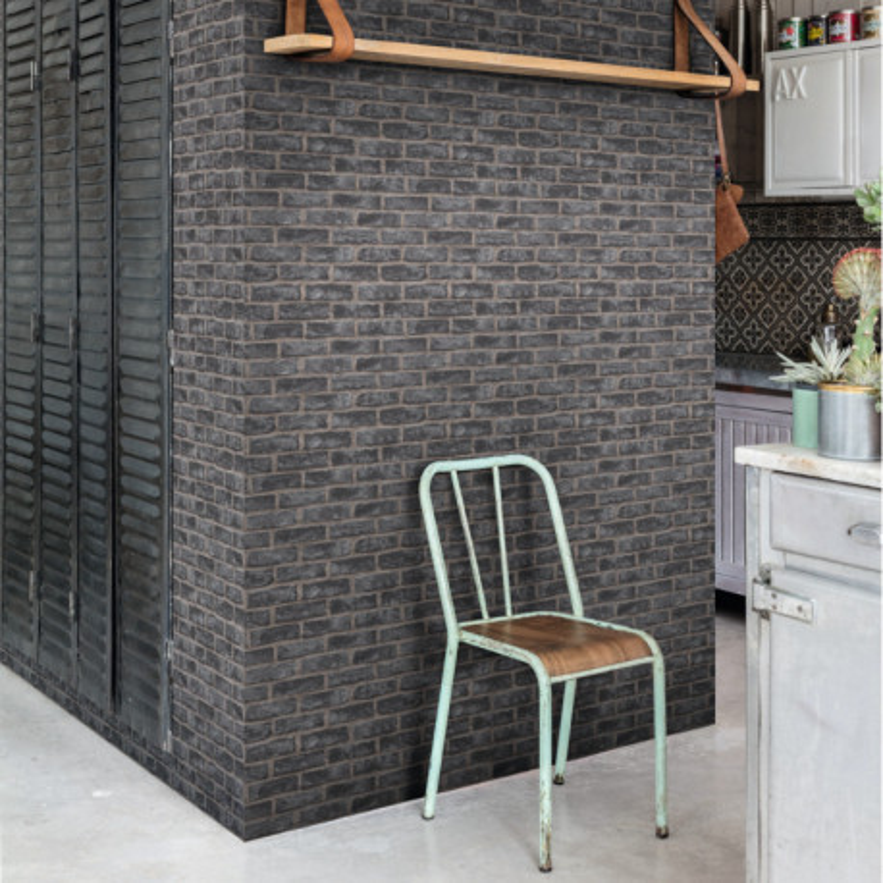 Papier peint Quarry Brick noir - ORIGINAL - Grandeco - EP2304
