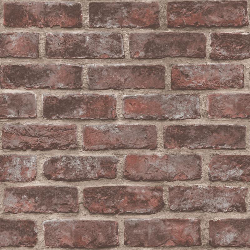 Papier peint Quarry Brick marron - ORIGINAL - Grandeco Life - EP3505