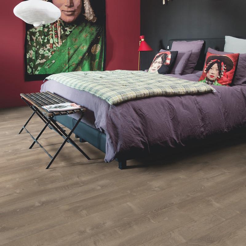 Quick Step - Lame PVC à clipser - Livyn Pulse Click - chêne tempête de sable marron
