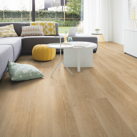 "Lame PVC clipsable ""Chêne brise marine naturel PUCL40081"" - Livyn Pulse Click QUICK STEP (résistant)"