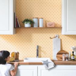 Papier peint Cocotte jaune - AU BISTROT D'ALICE - Caselio - BIS100652030