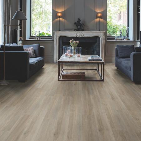 """Lame PVC clipsable """"Chêne gris brun soyeux BACL40053"""" - Livyn Balance Click QUICK STEP (résistant)"""