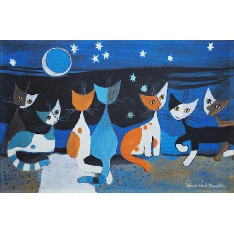 Tapis de propreté - paillasson chats- gatti nella notte - EFIA