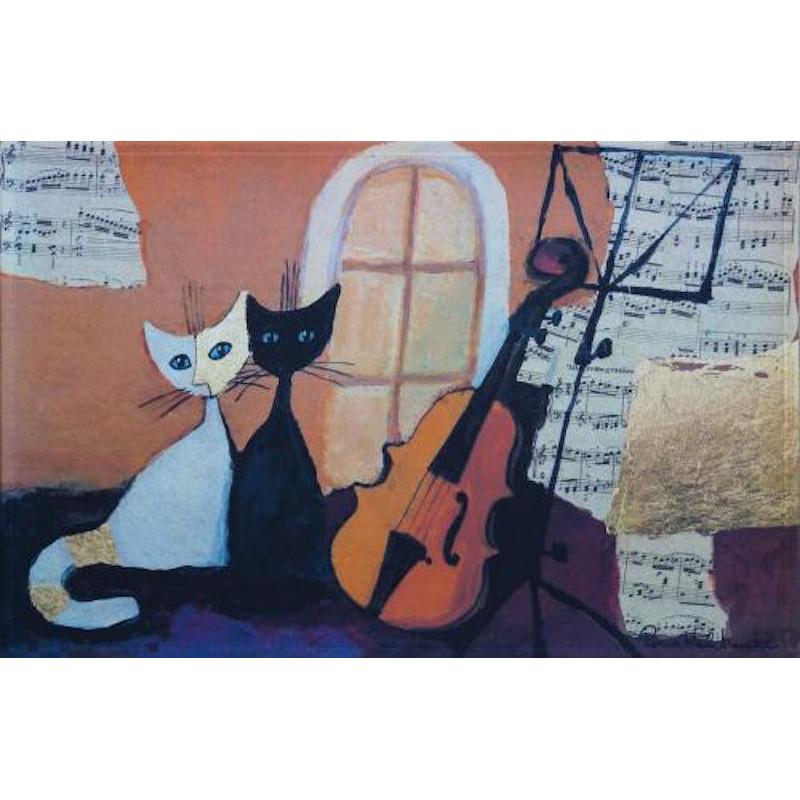 Tapis de propreté - paillasson chats- gatti con violoncello - EFIA