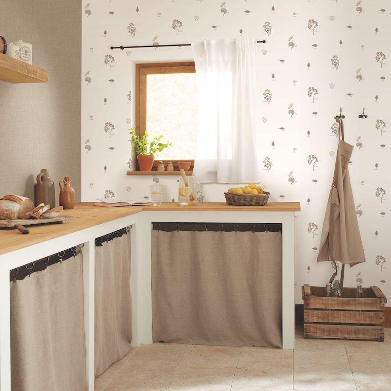 Papier peint Bouquet Garni beige - AU BISTROT D'ALICE - Caselio - BIS100621000