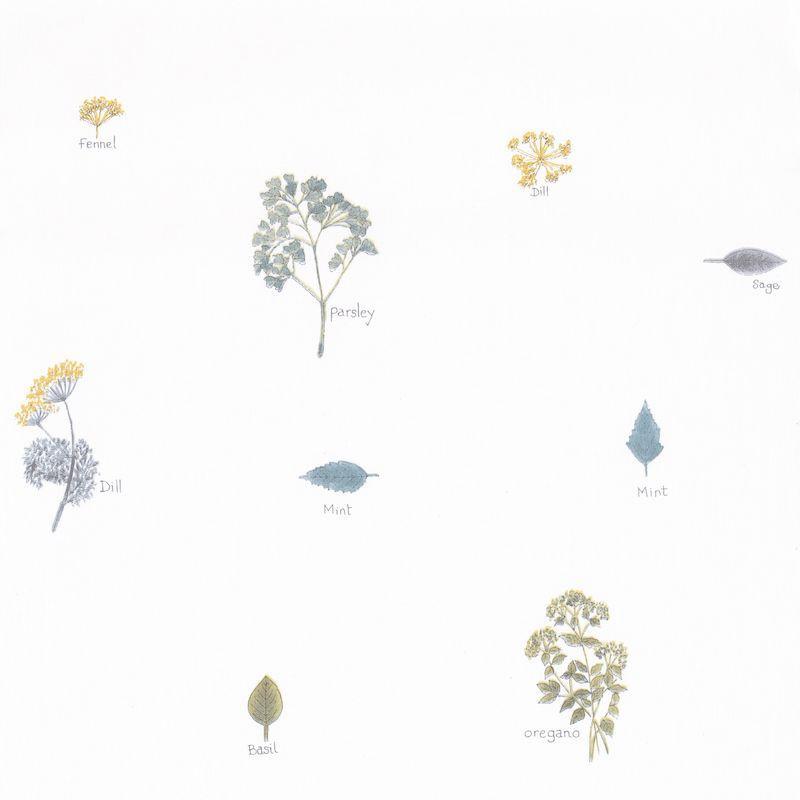 Papier peint Bouquet Garni bleu - AU BISTROT D'ALICE - Caselio - BIS100626029