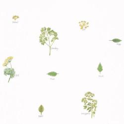 Papier peint Bouquet Garni vert - AU BISTROT D'ALICE - Caselio - BIS100627046