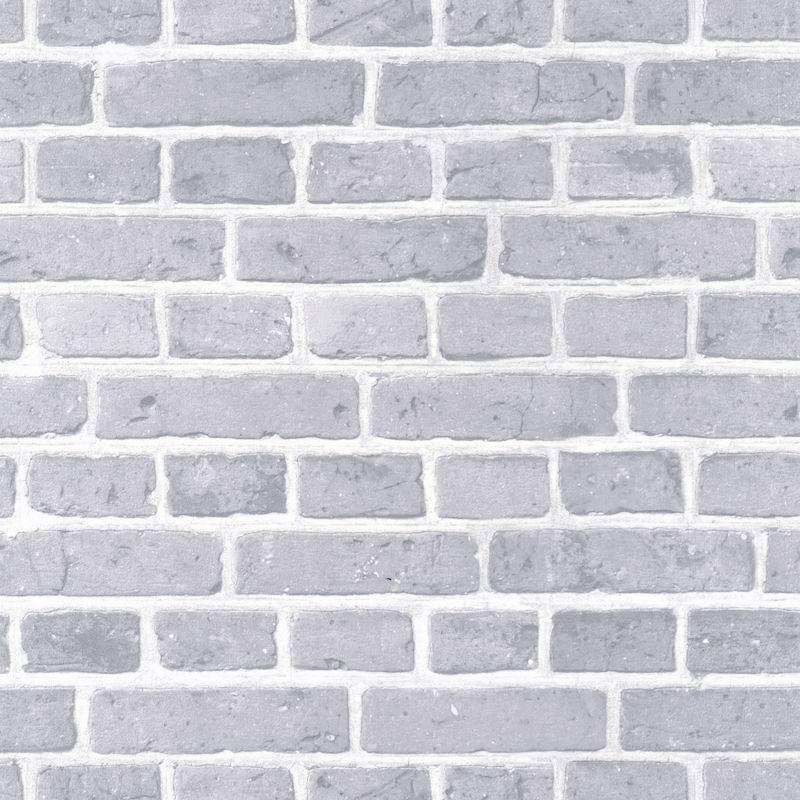 Papier peint Briques gris bleu - AU BISTROT D'ALICE - Caselio - BIS100681017