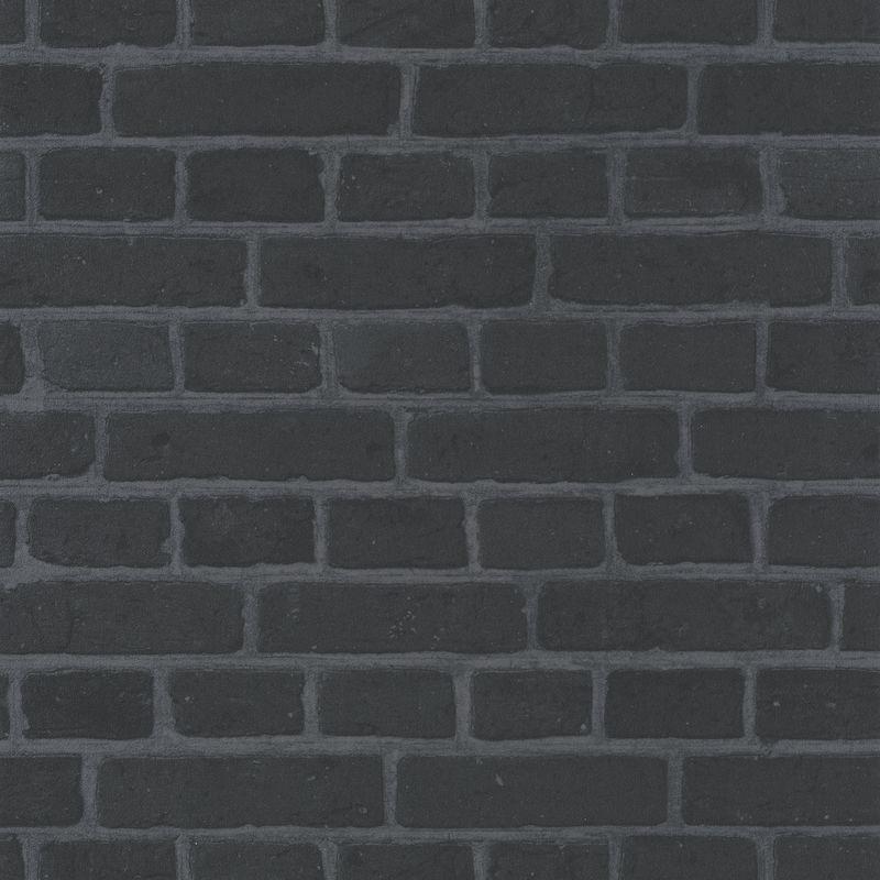 Papier peint Briques noir - AU BISTROT D'ALICE - Caselio - BIS100689190