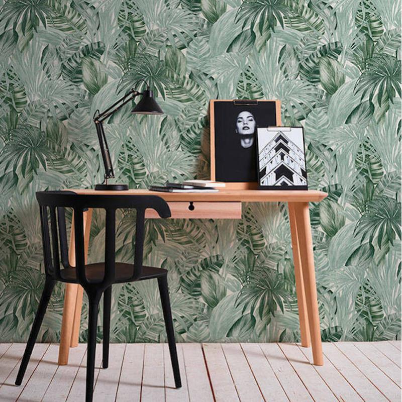 Papier peint Jungle Palmes blanc vert - GREENERY - AS Creation - 368201
