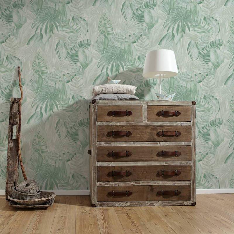 Papier peint Jungle palmes vert - GREENERY - AS Creation - 368202