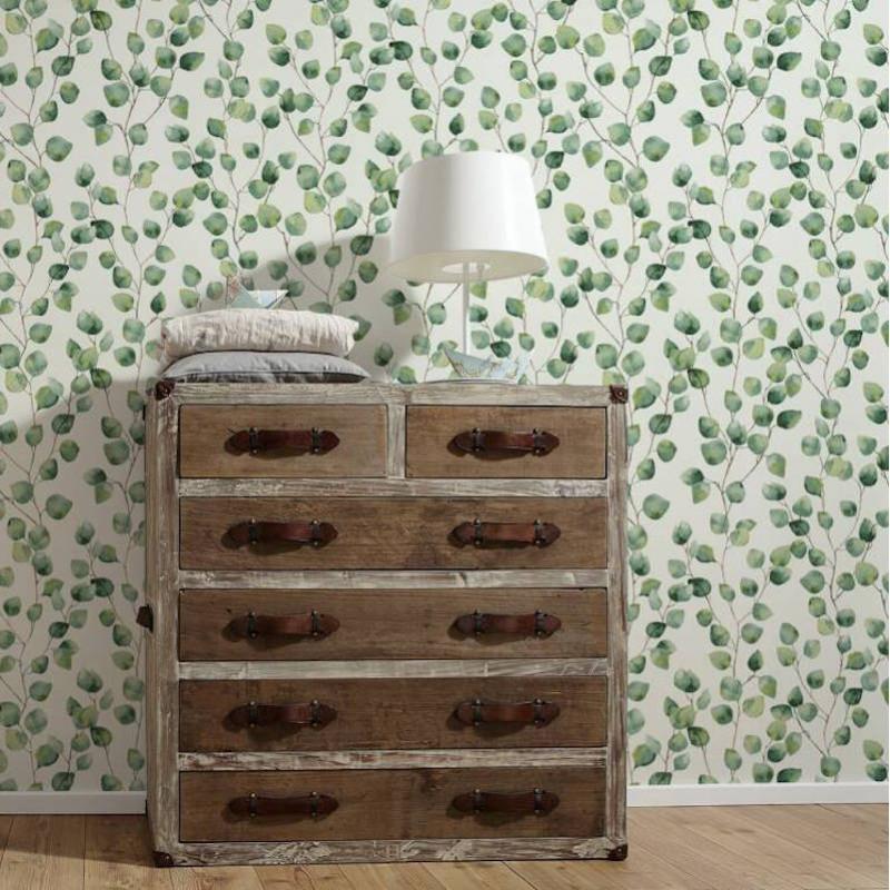 Papier peint Floral blanc et vert - GREENERY - AS Creation - 370441