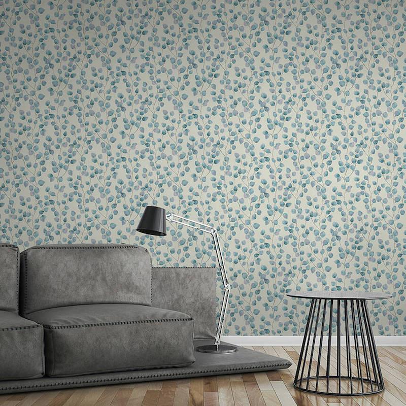 Papier peint Floral blanc et bleu - GREENERY - AS Creation - 370444