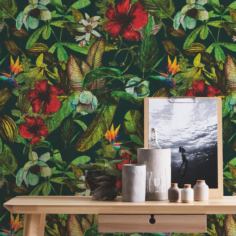 Papier peint Fleurs multicolore - GREENERY - AS Creation - 372165
