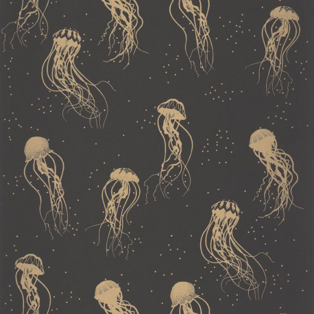 Papier peint Jellyfish Dance or et noir - MOONLIGHT - Caselio - MLG101042095