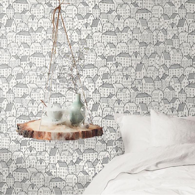 Papier peint Wonderland noir et blanc - MOONLIGHT - Caselio - MLG101119000