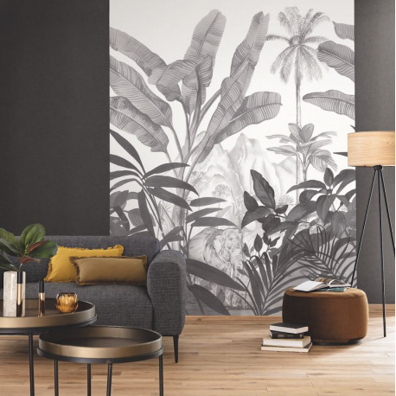 Panoramique Hathi noir et blanc - MOONLIGHT - Caselio - MLG101289008