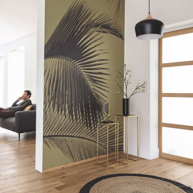 Panoramique Honey Palm noir, vert et or - MOONLIGHT - Caselio - MLG101292098