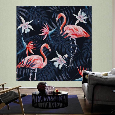 Panoramique Flamingo II - GREENERY - AS Creation - 116613