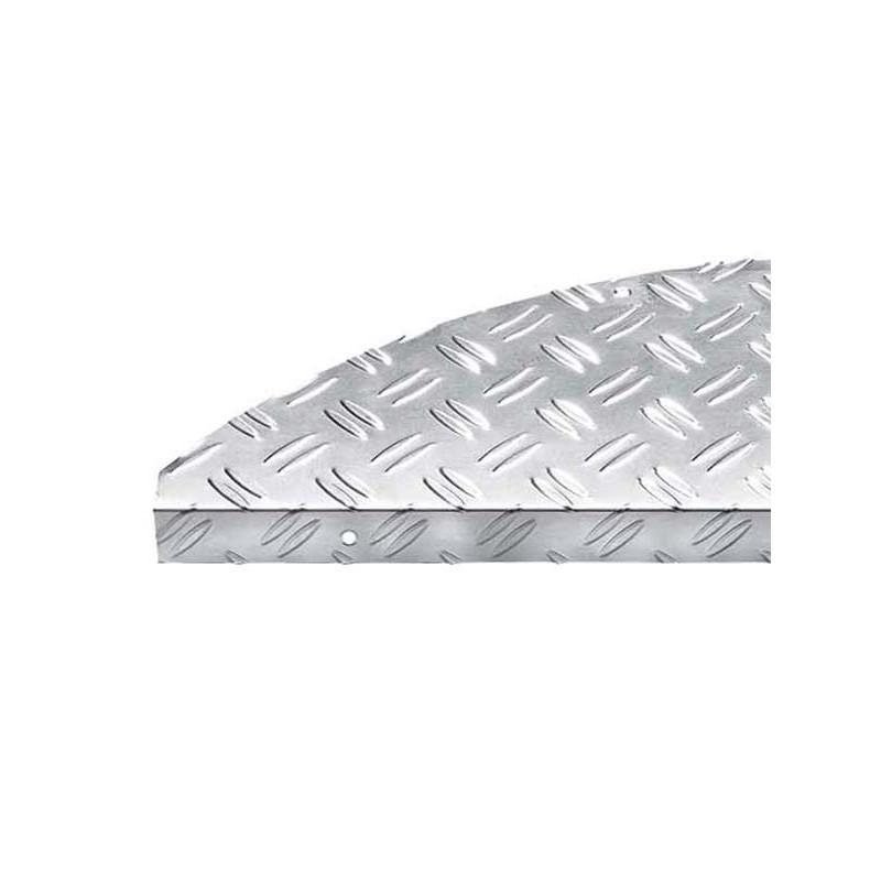 Protection d'escalier demi lune - Marchette aluminium traits STEELTRED Hamat
